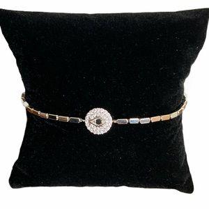 Evil eye metal fashion bracelet